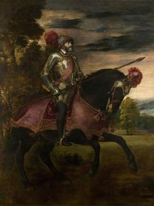 Equestrian Portrait of Charles V of Spain (1500-155), 1548 by Titian (Tiziano Vecelli)