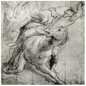 Horseman Falling, C1565 by Titian (Tiziano Vecelli)