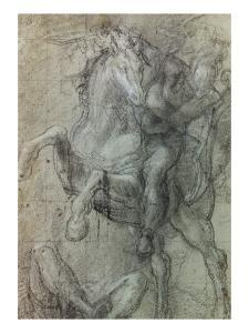 Horseman over Fallen Soldier by Titian (Tiziano Vecelli)