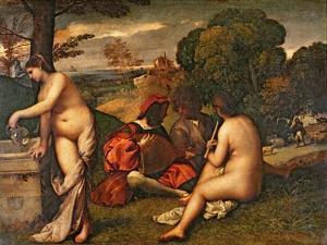 Le Concert Champetre by Titian (Tiziano Vecelli)