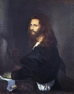 Portrait of a Musician by Titian (Tiziano Vecelli)