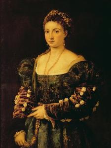 Portrait of a Woman, Called La Bella by Titian (Tiziano Vecelli)
