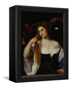 Portrait of a Woman by Titian (Tiziano Vecelli)