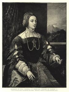 Portrait of Dona Isabella of Portugal, Consort of Charles V by Titian (Tiziano Vecelli)