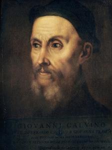Portrait of John Calvin (1509-64) by Titian (Tiziano Vecelli)