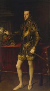 Portrait of Philipp Ii, 1551 by Titian (Tiziano Vecelli)