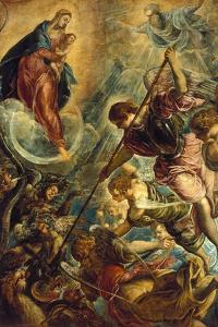 Saint Michael Defeating Satan, C. 1590 by Titian (Tiziano Vecelli)