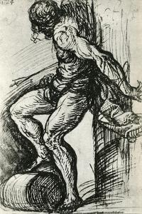 Sketch for the St Sebastian, C1518 by Titian (Tiziano Vecelli)