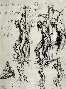 Sketches for the St Sebastian in Brescia, C1518 by Titian (Tiziano Vecelli)