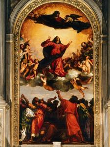 The Assumption of the Virgin, 1516-18 by Titian (Tiziano Vecelli)