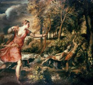 The Death of Actaeon, circa 1565 by Titian (Tiziano Vecelli)