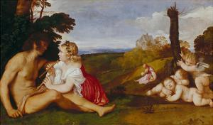 The Three Stages of Life by Titian (Tiziano Vecelli)