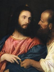 The Tribute Money, 1518 by Titian (Tiziano Vecelli)