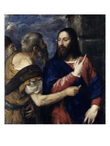 The Tribute Money, 1560-1568 by Titian (Tiziano Vecelli)