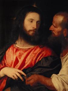 The Tribute Money: Christ and the Pharisee Give Unto Caesar by Titian (Tiziano Vecelli)