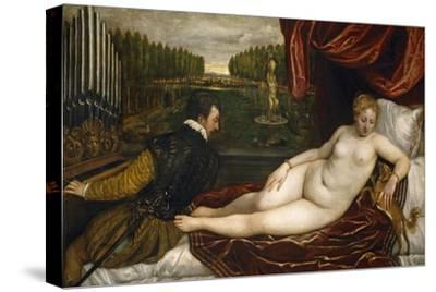 Venus, an Organist and a Little Dog