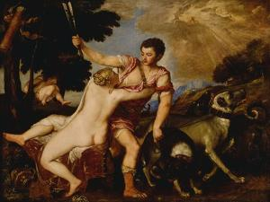 Venus and Adonis, C.1555-60 by Titian (Tiziano Vecelli)