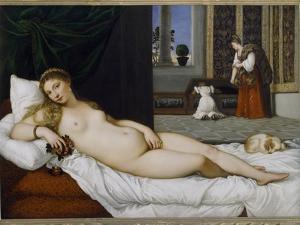 Venus of Urbino, Before 1538 by Titian (Tiziano Vecelli)