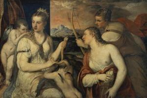 Venus und Amor by Titian (Tiziano Vecellio)