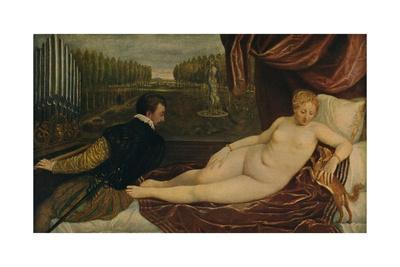 'Venus Con El Musico', (Venus and music), 1550, (c1934)