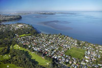 Titirangi Golf Course, Green Bay, and Manukau Harbour, Auckland, North Island, New Zealand-David Wall-Photographic Print