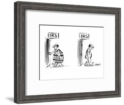 Title on both doors: IRS - New Yorker Cartoon-Lee Lorenz-Framed Premium Giclee Print