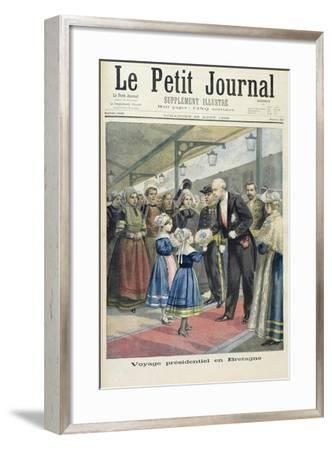 Title Page Depicting the Presidential Trip of Felix Faure to Britain from the Illustrated Supplemen-Fortune Louis Meaulle-Framed Giclee Print