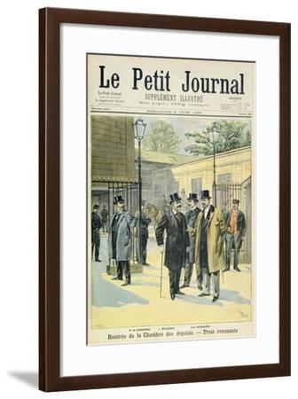 Title Page Depicting the Reopening of the House of Deputies with Paul Granier De Cassagnac- Meaulle & Tofani-Framed Giclee Print
