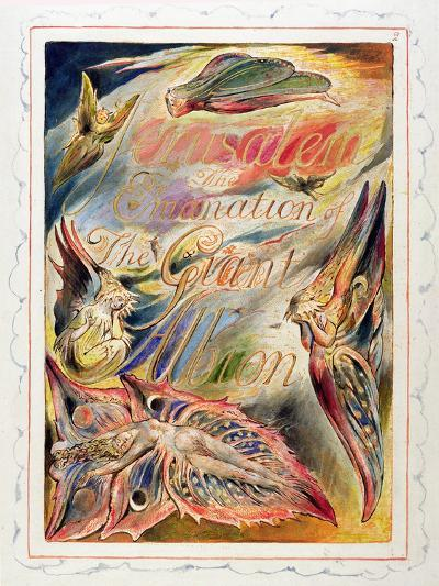 Title Page for 'Jerusalem: the Emanation of the Giant Albion, 1804-20-William Blake-Giclee Print