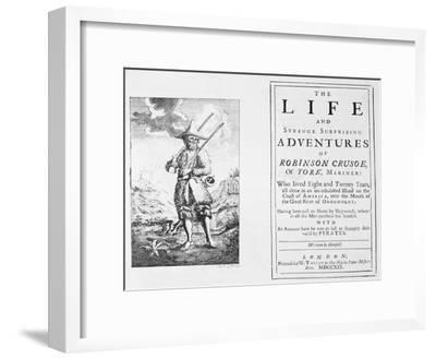 Title Page from Robinson Crusoe by Daniel Defoe