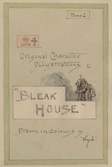 Title Page, Illustrations for 'Bleak House', Part 1, C.1920s-Joseph Clayton Clarke-Giclee Print