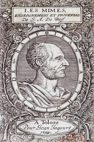 Title Page of 1619 Edition of Les Mimes-Jean-Antoine De Baif-Giclee Print