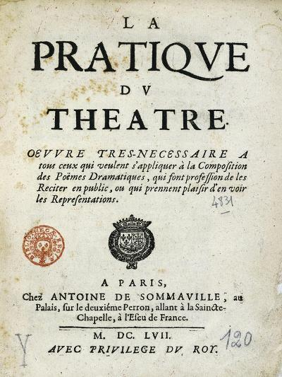 Title Page of 1657 Edition of Whole Art of Stage--Giclee Print