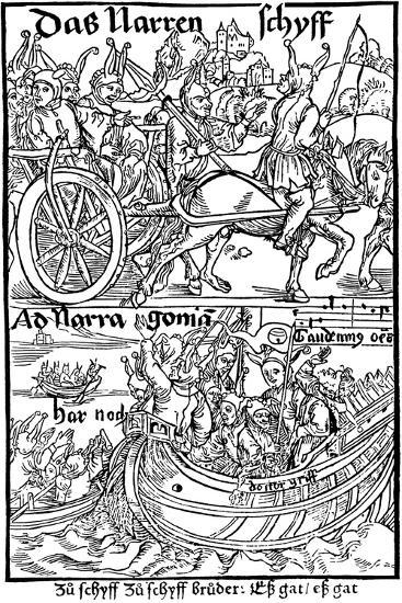 Title Page of an Edition of Ship of Fools, by Sebastian Brant, 1494-Albrecht Durer-Giclee Print