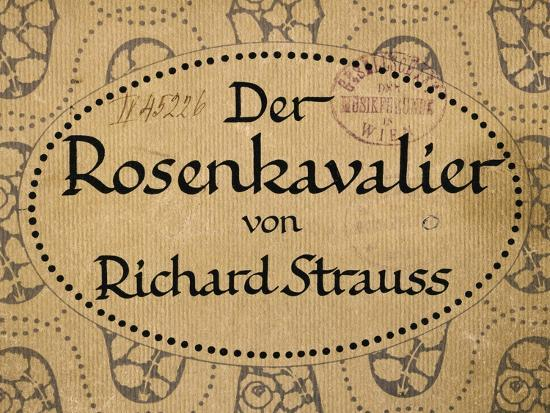 Title Page of Berlin Edition of Knight of Rose-Richard Strauss-Giclee Print