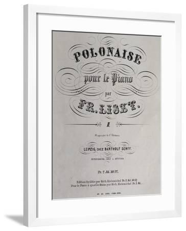 Title Page of Collection of Polish Dances--Framed Giclee Print