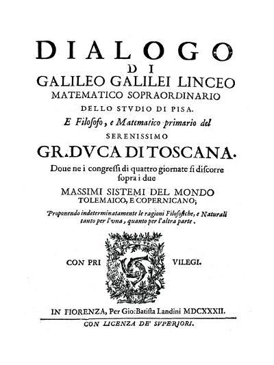 Title Page of Dialogo, by Galileo, 1632--Giclee Print