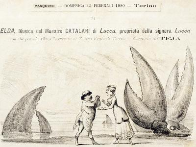 Title Page of Elda, Opera-Alfredo Catalani-Giclee Print