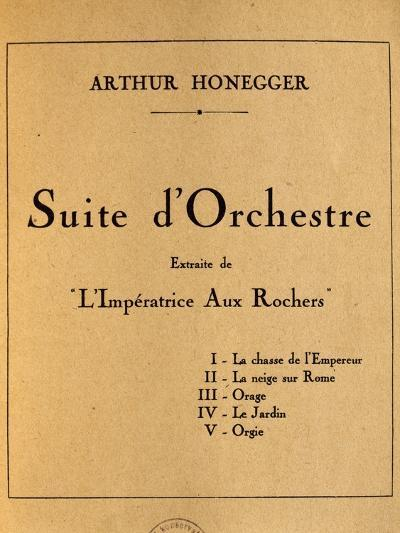 Title Page of Empress of Rocks, Orchestral Suite by Arthur Honegger--Giclee Print