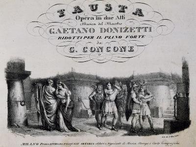 Title Page of Fausta, Opera-Gaetano Donizetti-Giclee Print