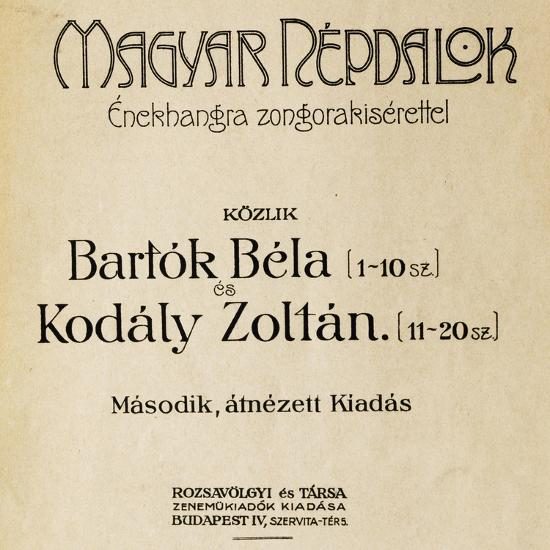 Title Page of First Edition of Folk Songs-Zoltan Kodaly-Giclee Print