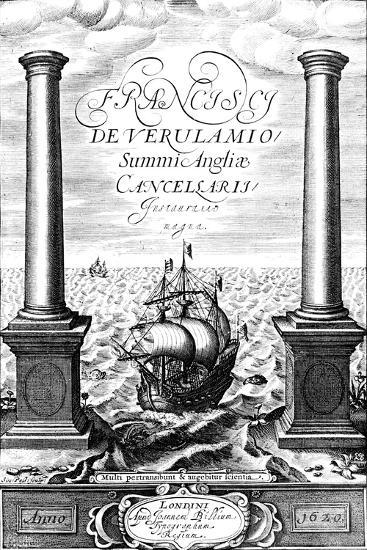 Title Page of Instauratio Magna, by Francis Bacon, 1620--Giclee Print