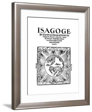 Title Page of Isagoge in Typum Cosmographicum Seu Mappam Mundi by Peter Apian, 1523--Framed Giclee Print