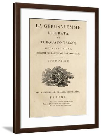 Title Page of Jerusalem Delivered-Torquato Tasso-Framed Giclee Print