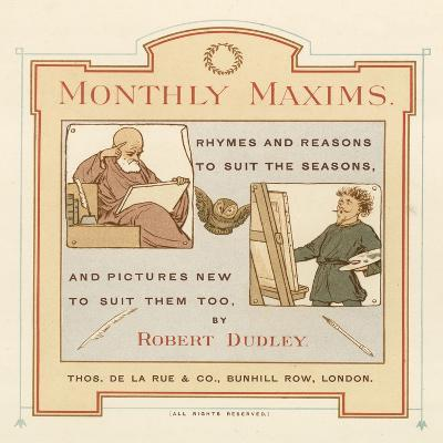 Title Page of Monthly Maxims-Robert Dudley-Giclee Print