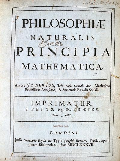 Title Page of Newton's Philosophiae Naturalis Principia Mathematica, 1687--Giclee Print