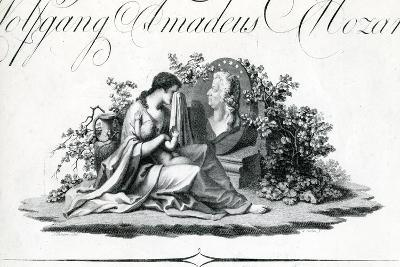 Title Page of Part I from 'Oeuvres Complettes' Engraved by Amadeus Wenzel, 1798--Giclee Print