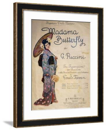 Title Page of Piano Transcription by Emile Tavan for Madame Butterfly--Framed Giclee Print
