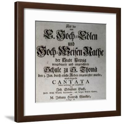 Title Page of Profane Cantata--Framed Giclee Print