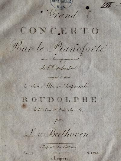 Title Page of Score for Concerto for Piano and Orchestra No 5, Opus 73-Ludwig Van Beethoven-Giclee Print